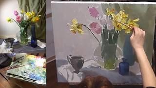 Презентация видео урока Лепестки весны