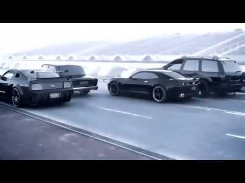 Гонка ВАЗ 2107 vs Shelby vs Camaro vs Jeep vs вертолёт под обработкой