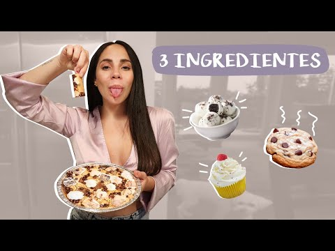 5 POSTRES CON SOLO 3 INGREDIENTES - FÁCIL Y RÁPIDO | What The Chic
