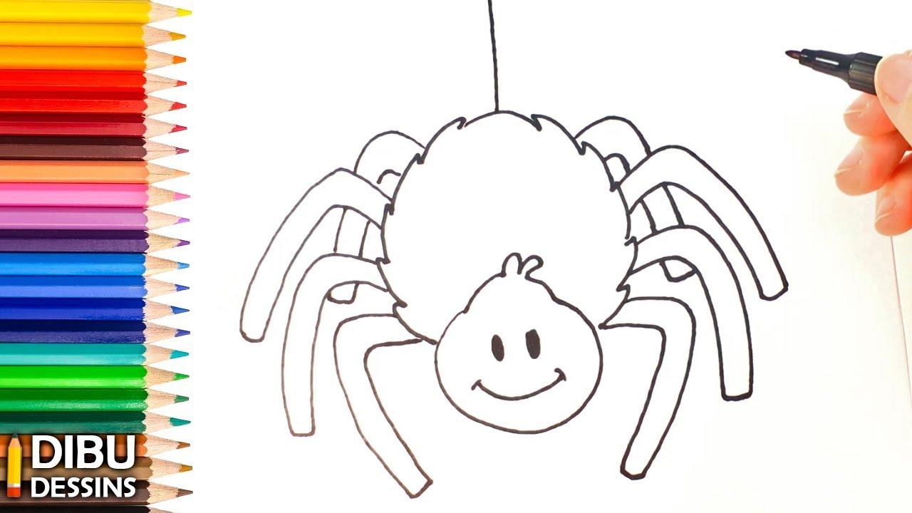 Comment dessiner une Araignée | Dessin de Araignée - YouTube