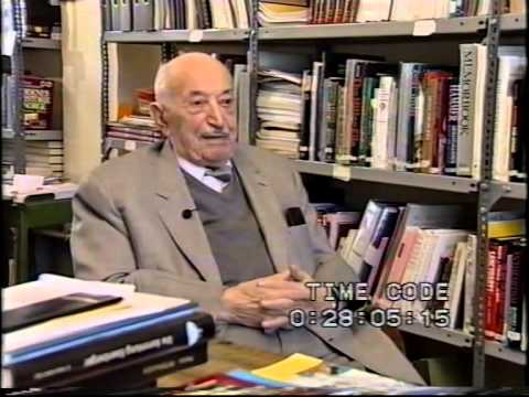 Dr. Simon Wiesenthal being interviewed during the Vienna Peace Summit 1999, part 1