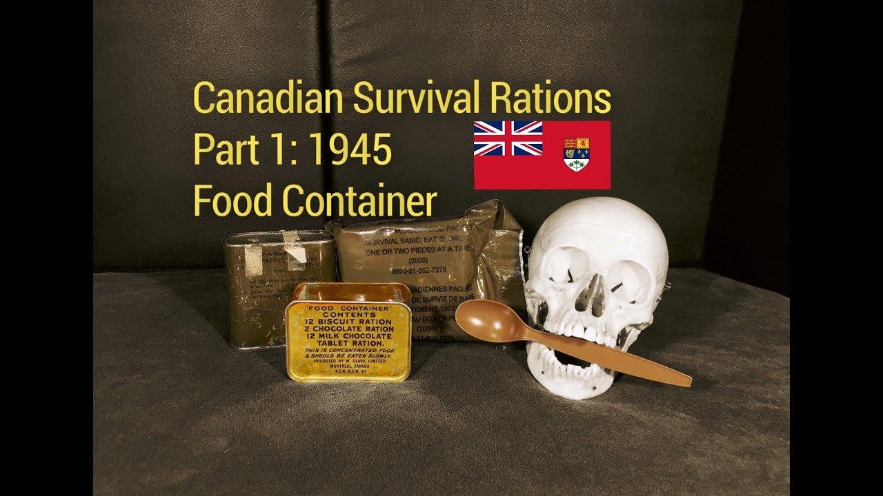 1945 Royal Canadian Navy survival ration vintage sealed