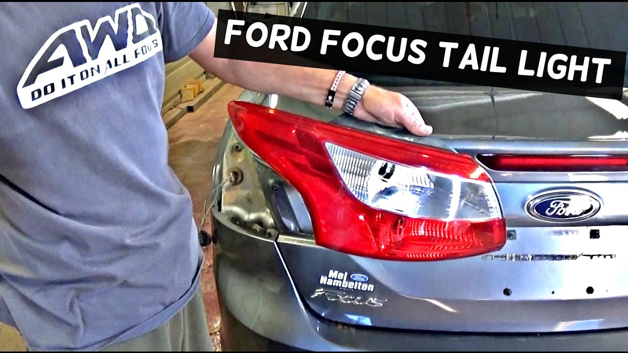 Ford Focus Sedan Rear Tail Light Removal Replacement