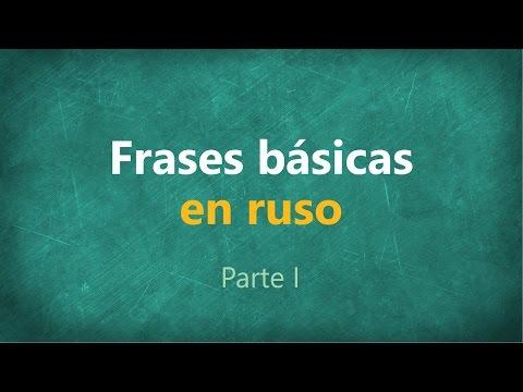 Frases básicas en RUSO (parte 1)