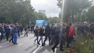 Boerenprotest Lemelerveld op het Malieveld in Den Haag