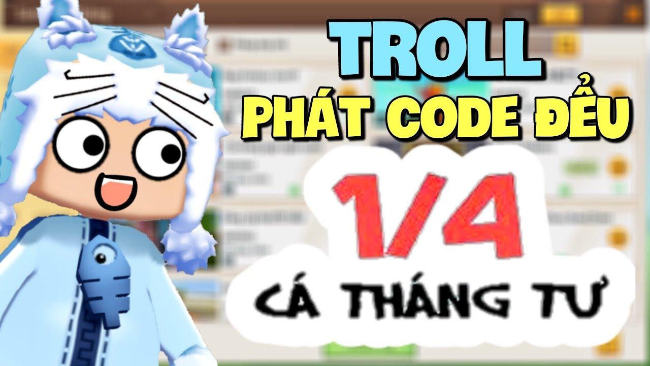 Troll phát Code đểu Ngày Cá Tháng Tư lúc 12h đêm trong Mini World và cái kết | Meowpeo