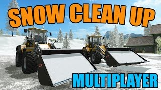 FARMING SIMULATOR 2017 | SNOW PLOWING | TRUCKING OUT SNOW | MULTIPLAYER
