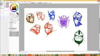 Transformers Prime - Practice Sketches - Speedpaint