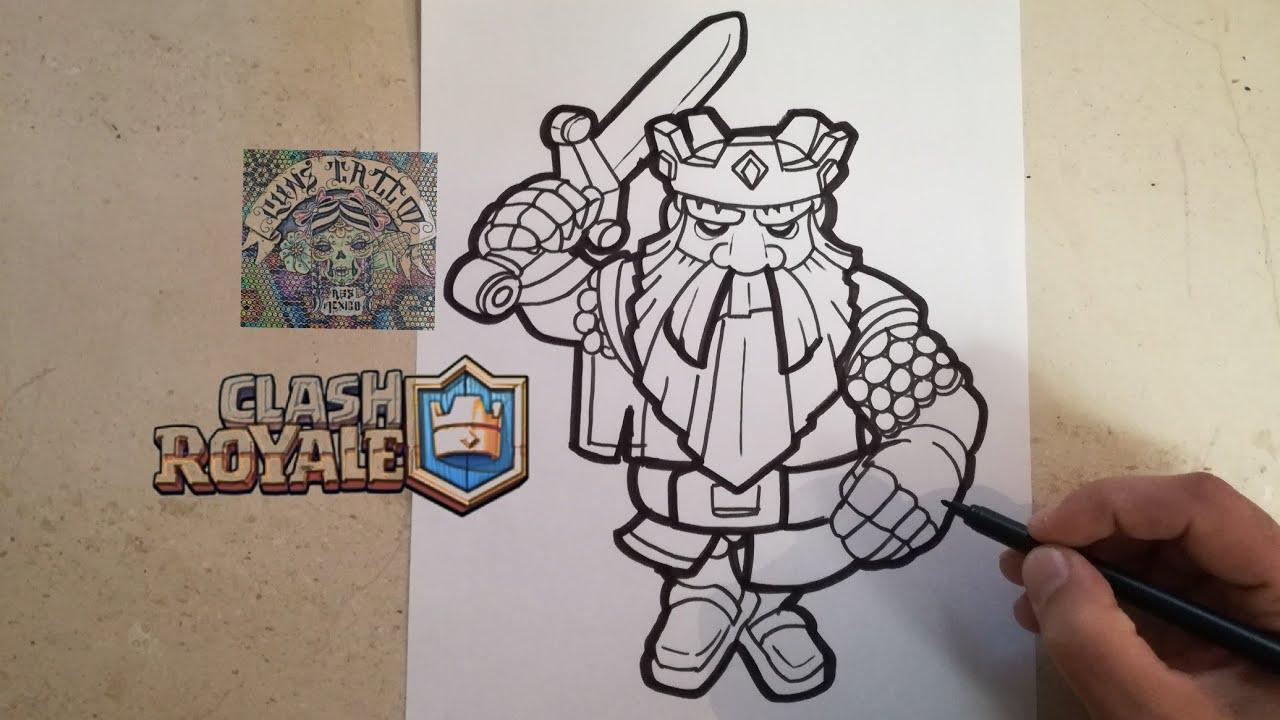 Dibujando Al Mago Eléctrico: Dibujo De Clash Royale Para Colorear