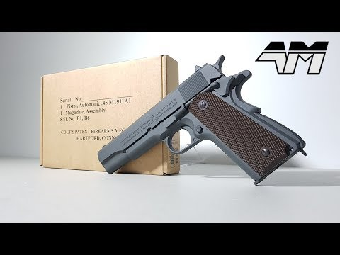 OFFICIALLY LICENSED COLT M1911A1 PARKERIZED GREY / Airsoft Unboxing / Call Of Duty WW2