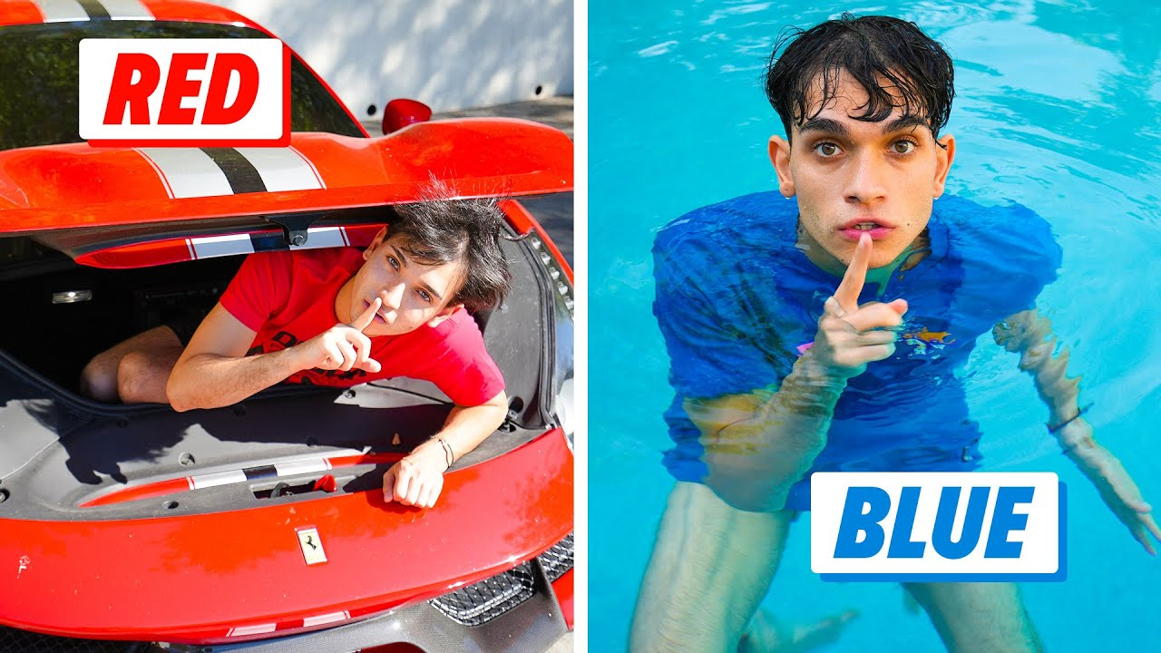 HIDE and SEEK IN YOUR COLOR! | Lucas and Marcus