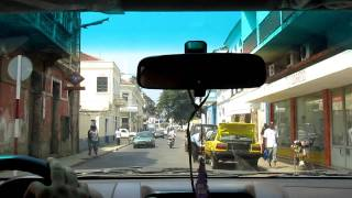 A Drive through the city area in Sao Tome, Africa