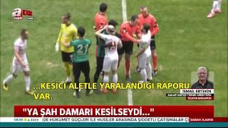 Amedspor-Sakaryaspor maçında skandal! Amedsporlu Mansur Çalar, kesici aletle futbolcuları yaraladı!
