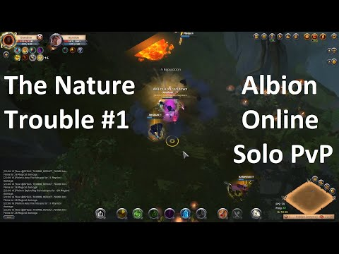 The Nature Trouble #1 | Nature staff | Albion Online solo PvP