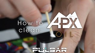 How To Clean Your Pulsar APX Oil