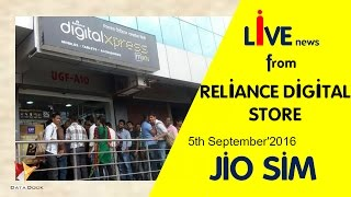Jio Sim Live News How To Get It from Reliance Digital Stores On 5th September'2016 - Data Dock
