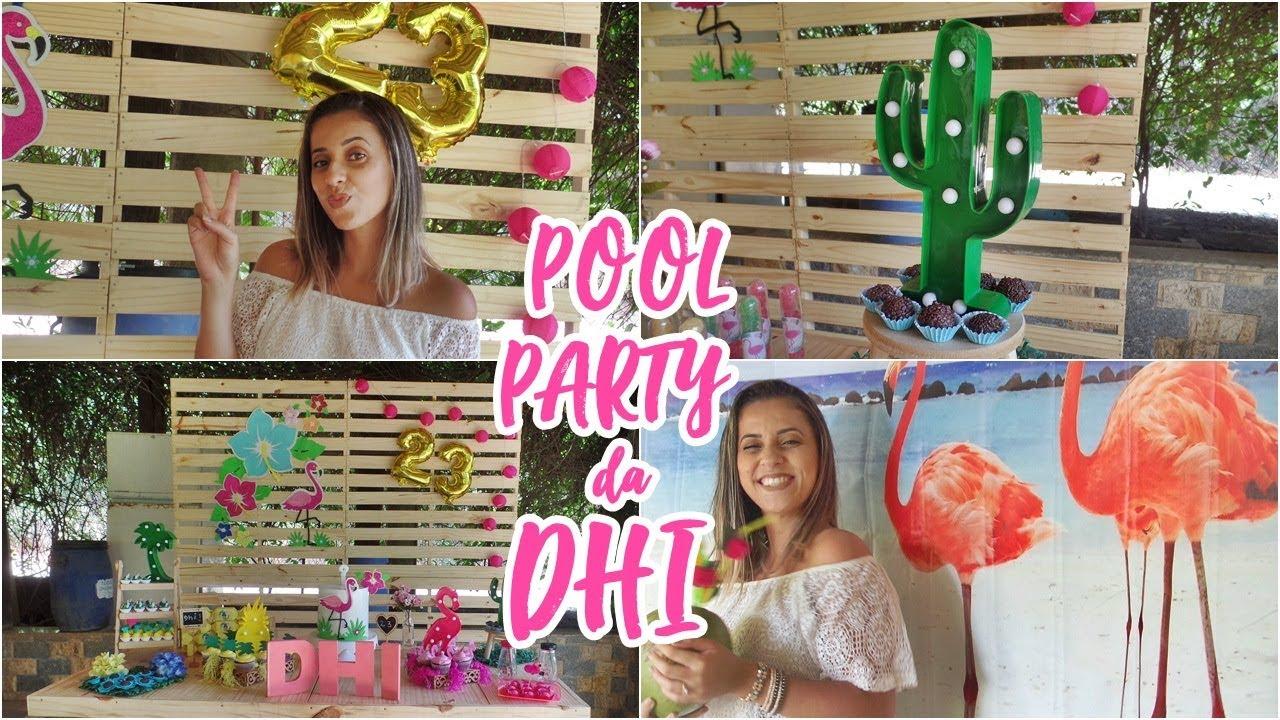 Vlog meu anivers rio pool party sem piscina festa for Party in piscina