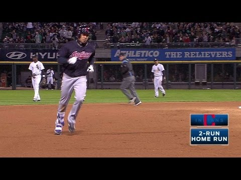 CLE@CWS: Brantley smacks a two-run homer to right