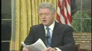 President Bill Clinton - Statement on Kosovo Intervention