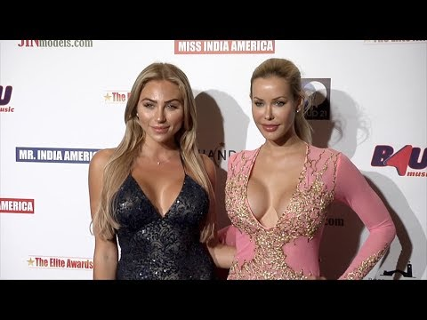 Playmates Khloe Terae, Kennedy Summers 2017 Elite Awards Ceremony Charity Gala Red Carpet