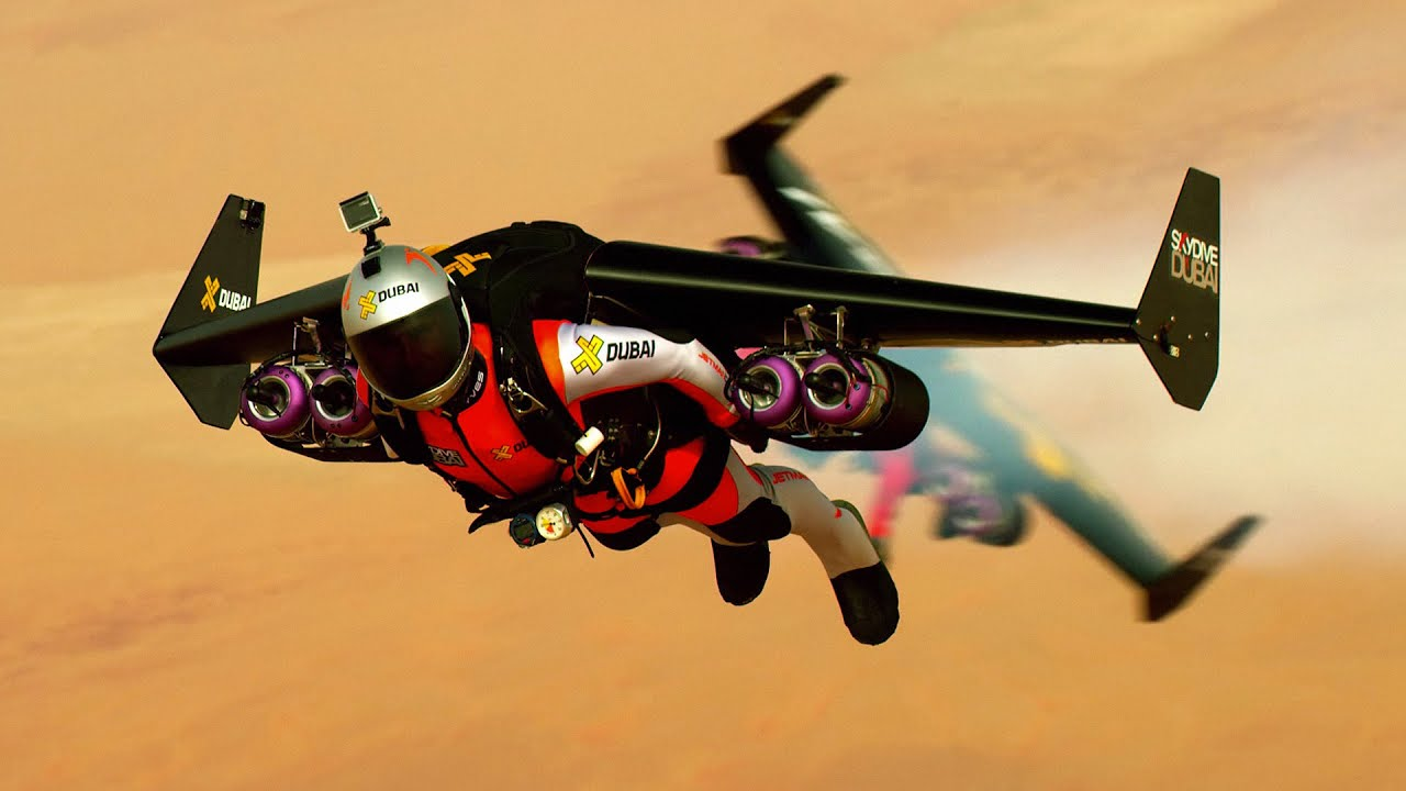 Man Can Fly Human Jet Suits Streak Skies Mph Flight In Dubai - Crazy video of two guys flying jetpacks over dubai