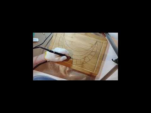 Wood Burning Bamboo Cutting Board Part 1