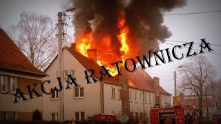 Pożar poddasza budynku Złotów 27.02.2015