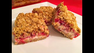 Cranberry Cream Cheese Crisp - Sweet solution for your cranberry sauce leftover - Episode #78