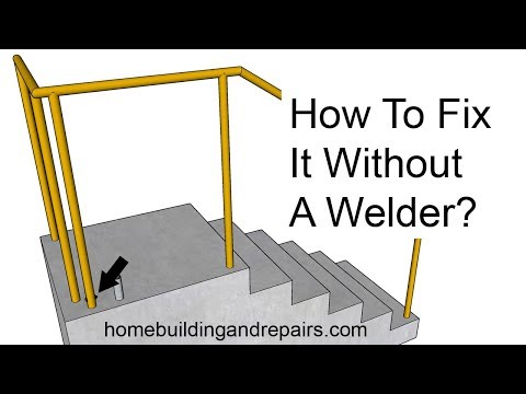 How To Repair Metal Stairway Hand Railing Base Damage Without A Welder