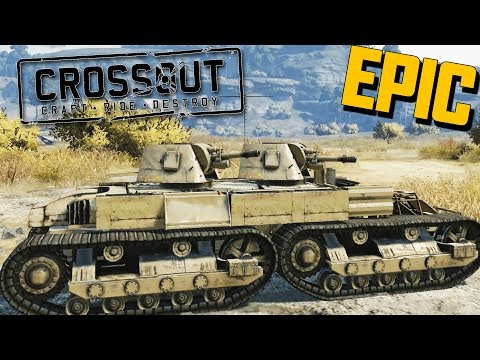 Crossout MASSIVE TANK - Twin Turrets & FLYING to Space! (Crossout Open Beta Gameplay Part 2)