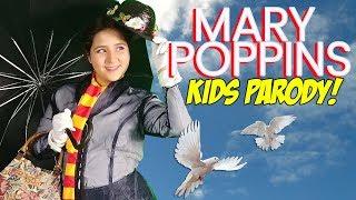 Mary Poppins Returns girls kids parody home made movie