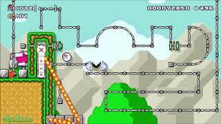 (⓪__⓪) Super Expert NO SKIP: Bullet Hell Diving (⓪__⓪) (Super Mario Maker)