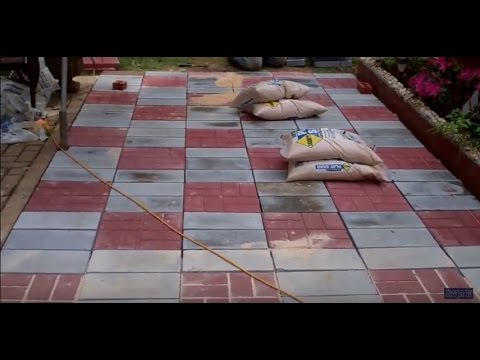 creating a stone patio