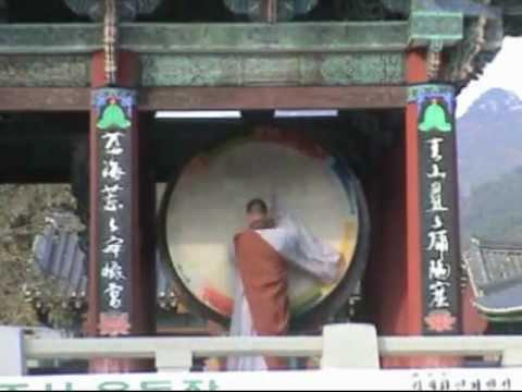 Korean Buddhist Monk Drumming Contest