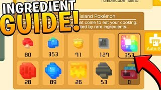 UNLIMITED INGREDIENTS GUIDE IN POKEMON QUEST! Pokemon Quest Farming Ingredients Guide