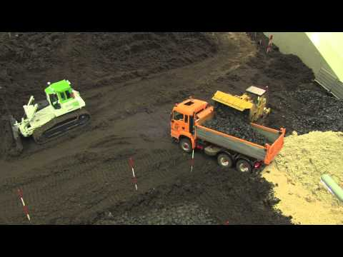 RC Construction Machines building a road Part 4
