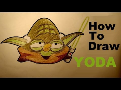 How To Draw Yoda From Angry Birds Star Wars Drawing Lesson