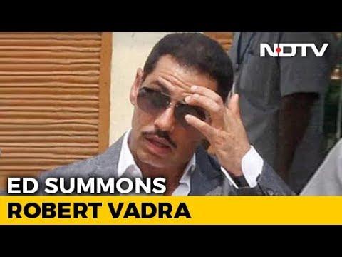 Robert Vadra Summoned By Probe Agency Tomorrow In Money-Laundering Case