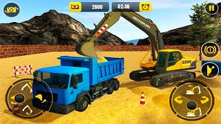 Heavy Excavator Loading Sand into Dump Truck - Construction Simulator 2021 - Android Gameplay