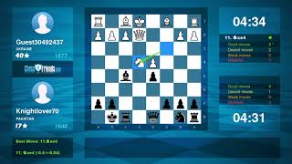 Chess Game Analysis: Guest30492437 - Knightlover70 : 0-1 (By ChessFriends.com)