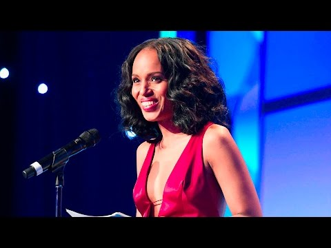 Kerry Washington accepts the Vanguard Award at the #glaadawards ...
