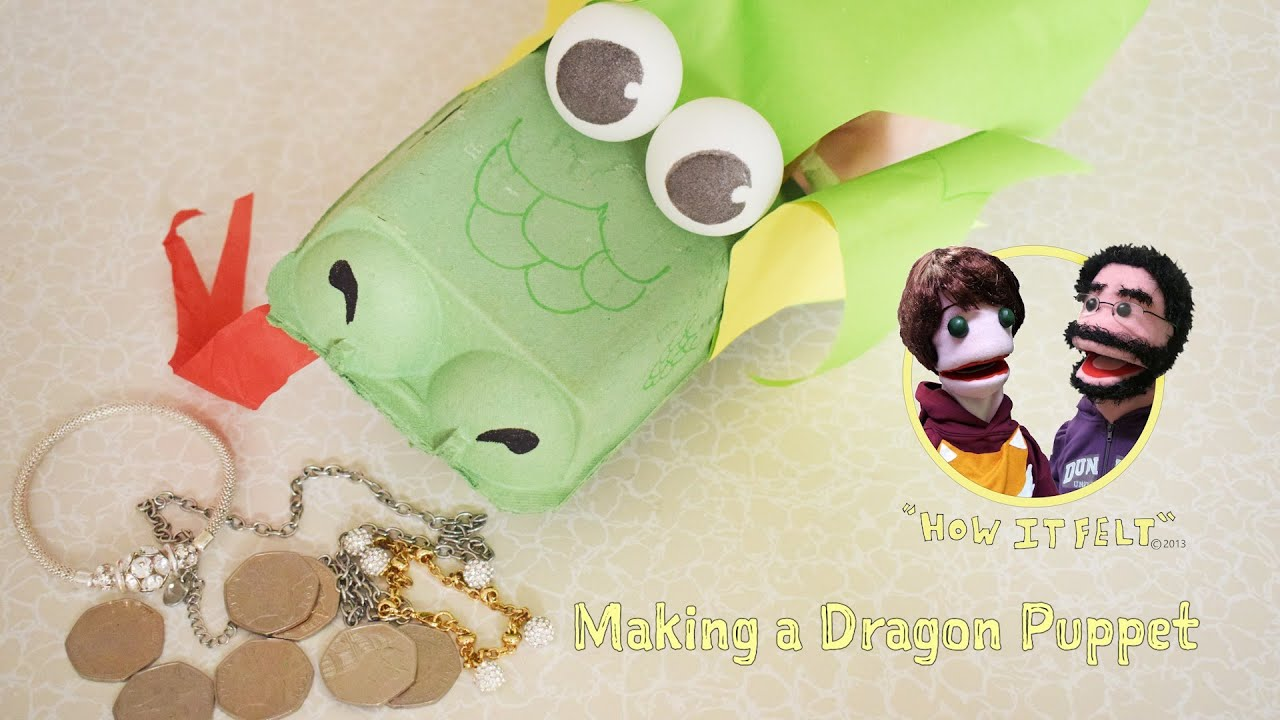 Fuzzy Finger Crafts: How to Make a Dragon Puppet