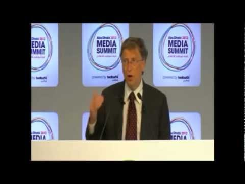 Bill Gates at Abu Dhabi Media Summit 2012