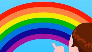 Rainbow Colors Song | Learn Colors For Babies | Nursery Rhymes & Kids Songs