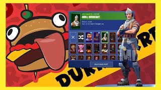 *NEW* LEAKED GRILL-SERGEANT SKIN // PART OF THE DURR BURGER SET (Fortnite Battle Royale leaks)