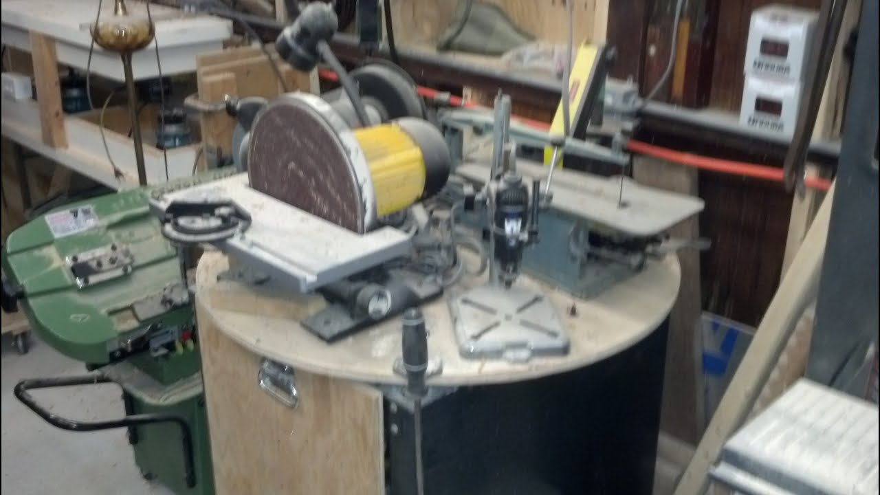 Power Tool Station Small Workshop Space Saver Youtube
