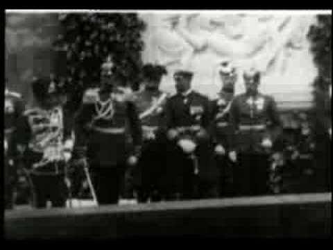 Kaiser Wilhelm II. weiht eine Gedenktafel...