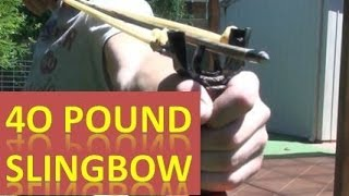Homemade Compact 40 Pound Pvc Slingbow With Fishing Kit