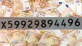 Wie funktioniert die Seriennummer auf Euro-Geldscheinen?