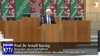 Arnulf Baring über Helmut Schmidts geschichtspolitische Verquickung von Holocaust und Eurorettung